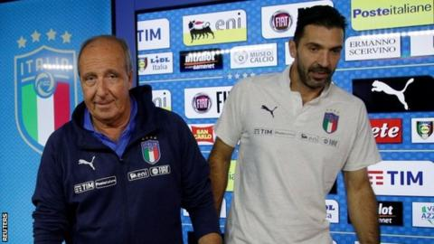 Giampiero Ventura and Gianluigi Buffon