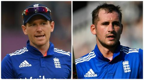 Eoin Morgan and Alex Hales