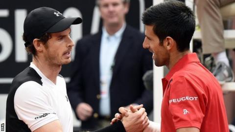 Andy Murray (left) and Novak Djokovic