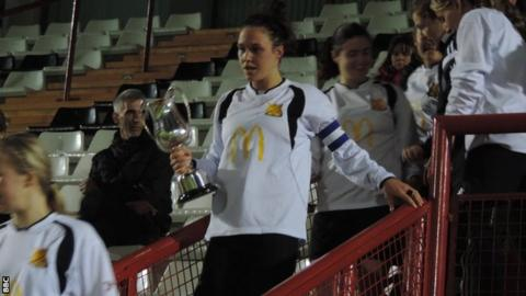 Eve Watson with the cup