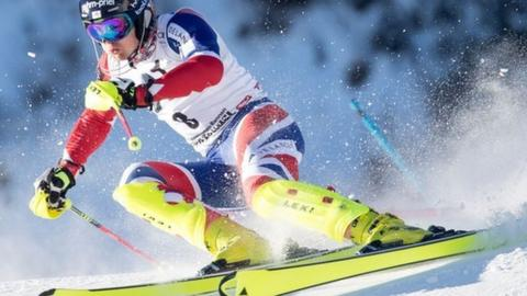 Dave Ryding on his way to slalom silver at the Kitzbuhel World Cup
