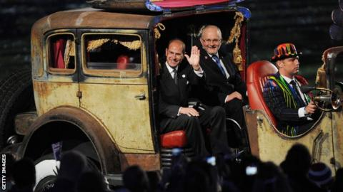 Sir Philip Craven and Prince Edward