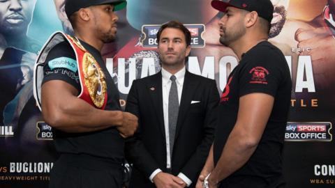 Anthony Joshua and Eric Molina go head to head