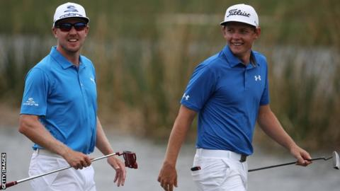 Cameron Smith and Jonas Blixt in New Orleans