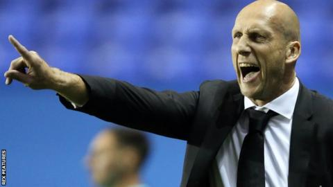 Reading boss Jaap Stam shouting instructions