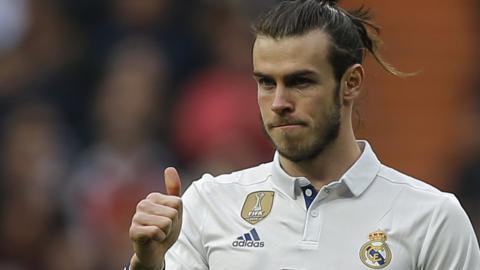 Real Madrid midfielder Gareth Bale