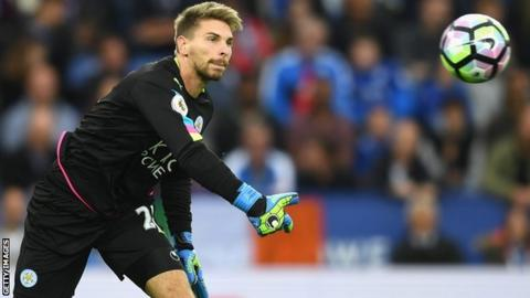 Ron-Robert Zieler played in Leicester's 3-0 win against Burnley on Saturday