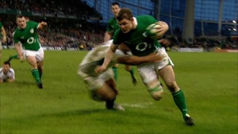 Legend Brian O'Driscoll breaks Championship try record