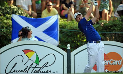 Martin Laird on his way to winning the Arnold Palmer Invitational in Florida