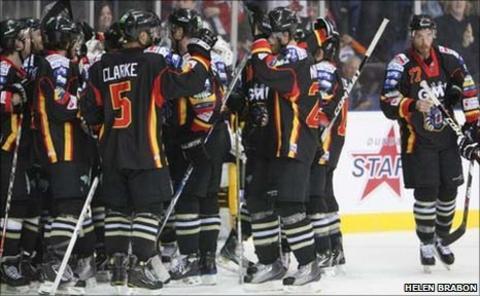 Nottingham Panthers celebrate