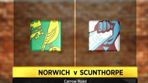 Norwich v Scunthorpe highlights