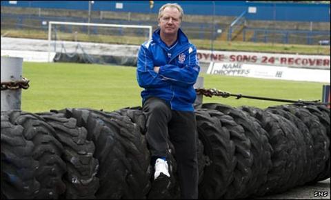 Cowdenbeath manager Jimmy Nicholl