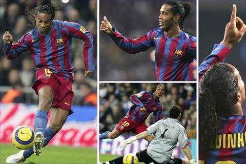Ronaldinho's genius enables Barca to thrash Real