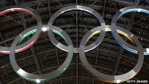The Olympic Rings at St Pancras International Station