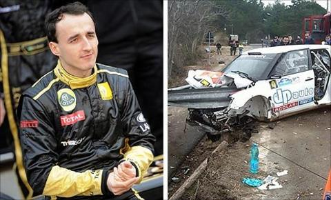polish kubica was injured when he crashed while taking part in a rally