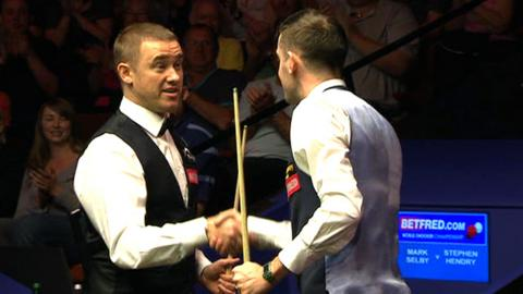 Stephen Hendry and Mark Selby