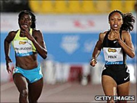 Christine Ohuruogu and Allyson Felix