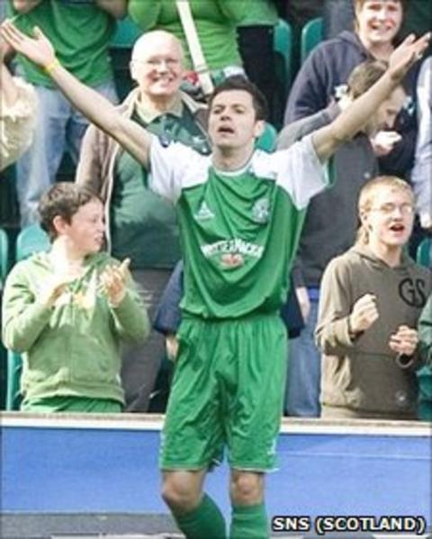 Ivan Sproule in his time at Hibernian