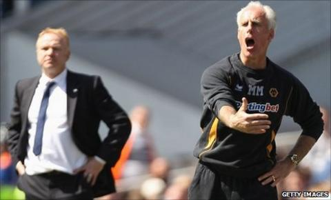 Birmingham boss Alex McLeish (left) and Wolves boss Mick McCarthy