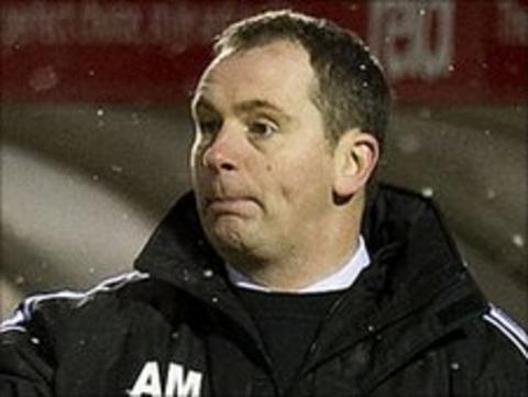 Alloa Athletic manager Allan Maitland