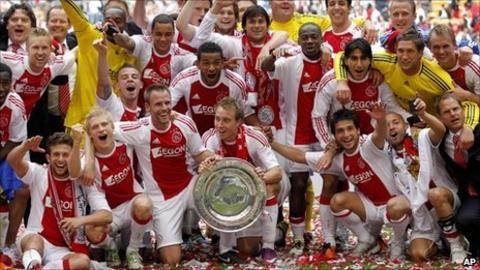 Ajax celebrate Dutch title success