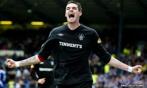 Rangers forward Kyle Lafferty