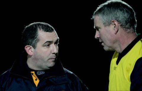 Seamus McEnaney (left) and Liam Harnan