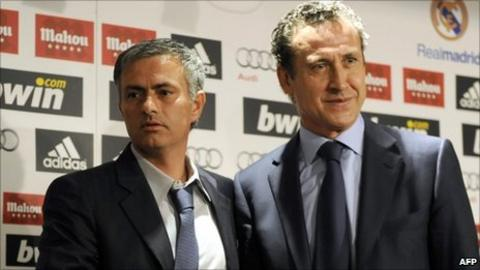 Jose Mourinho and Jorge Valdano