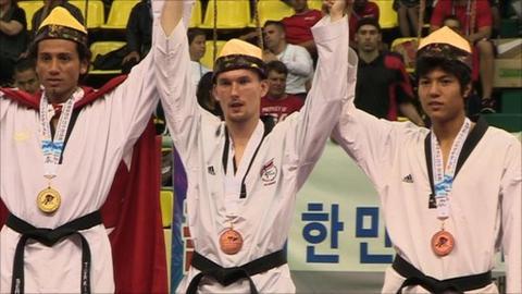 Martin Stamper won Taekwondo World Championship bronze in 2011
