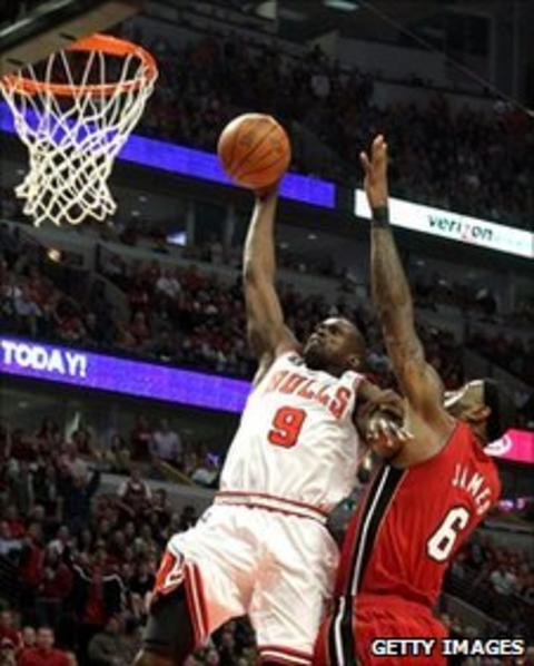 Bulls star Luol Deng scored 18 points in game five
