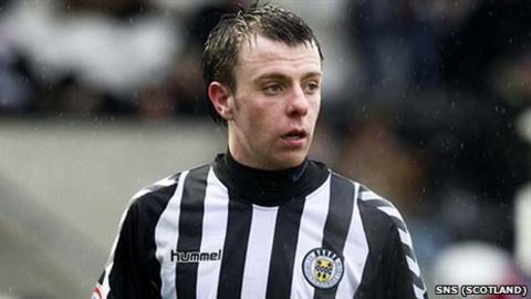 St Mirren striker Paul McGowan