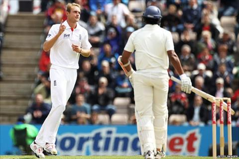 Low-key celebrations from a relieved Stuart Broad