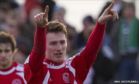 Rory McAllister was a prolific scorer during two seasons with Brechin City