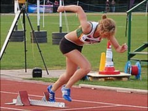 Guernsey athlete at the 2011 Island Games in the Isle of Wight
