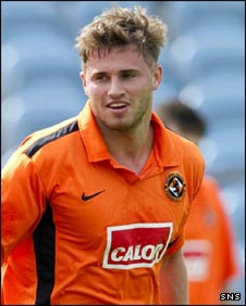 David Goodwillie in pre-season action with Dundee United