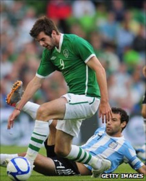 Cillian Sheridan in action against Argentina