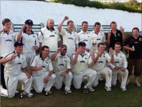 St Just celebrate their eighth successive Vinter Cup win