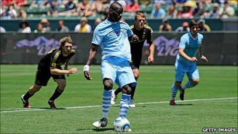 Manchester City striker Mario Balotelli