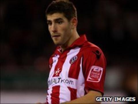 Sheffield United striker Ched Evans