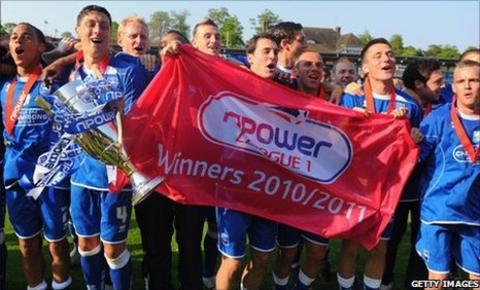 Brighton celebrate winning the league