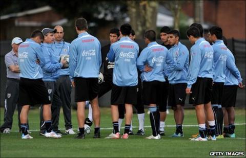 Uruguay coach Juan Verzeri