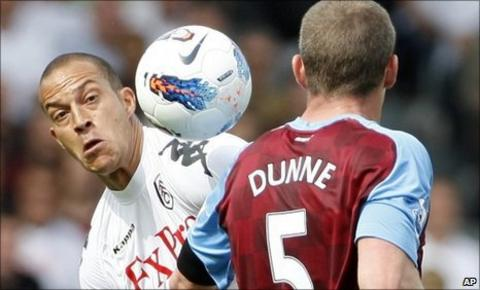 Fulham striker Bobby Zamora and Aston Villa boss Richard Dunne
