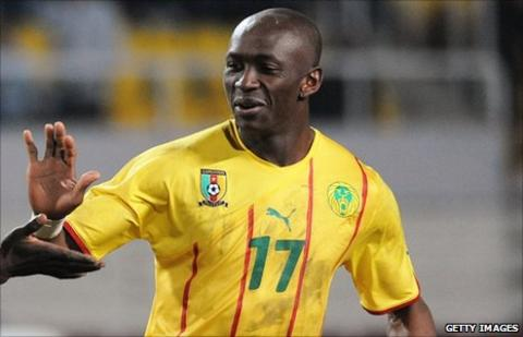 Cameroon and Marseille midfielder Stephane Mbia