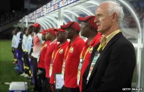 Mozambiquie's Dutch coach Mart Nooij