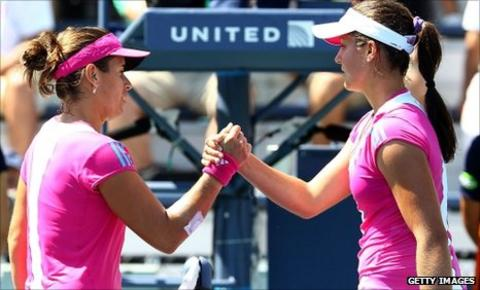 Anabel Medina Garrigues and Laura Robson
