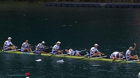 GB's women's eight celebrate their bronze