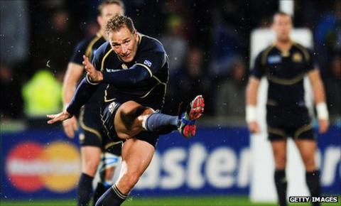 Dan Parks kicked all of Scotland's points in Invercargill