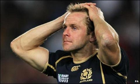 Chris Paterson shows his disappointment
