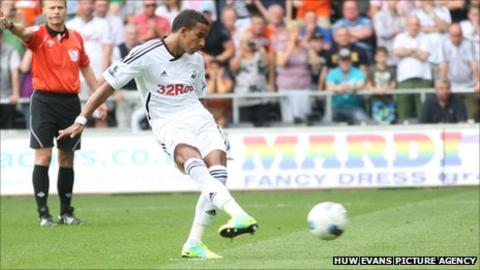 Scott Sinclair scores from the penalty spot