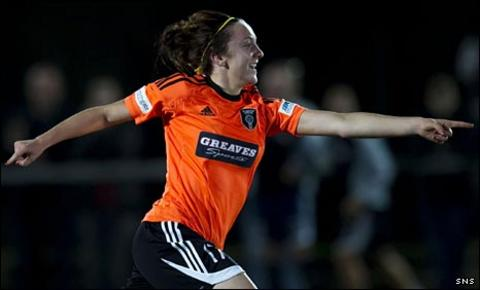 Lisa Evans celebrates